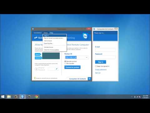 How to set personal password in teamviewer
