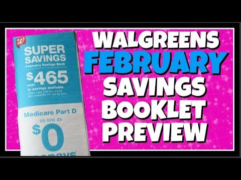 Walgreens February Savings Booklet Preview 2018