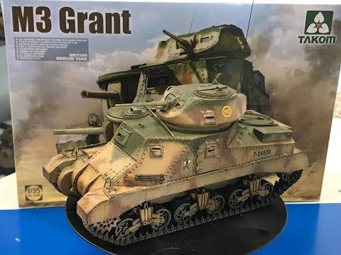 Building the Takom 1/35  M3 Grant Step by step,  Start to finish