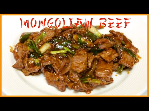 Stir Fried Mongolian Beef Recipe / English Closed Captions