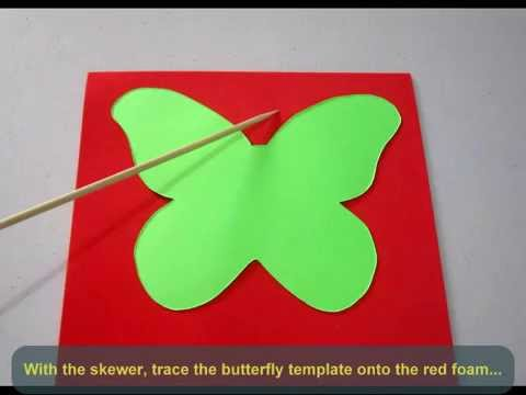 DIY Foam Butterfly