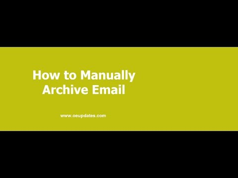How to Easily Manually Archive Email