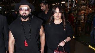 Yo Yo Honey Singh With Wife Shalini Spotted At Mumbai Airport