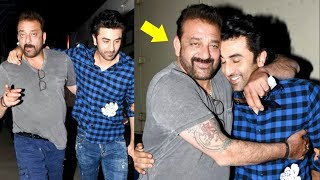 Sanjay Dutt HUGS Ranbir Kapoor After Seeing Sanju Movie Trailer- Video