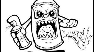 Graffiti Karakter Spray Pilox Tengkorak