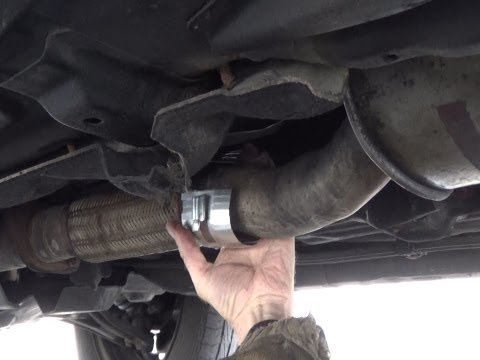 How to repair a hole / leak in exhaust pipe without dismantling