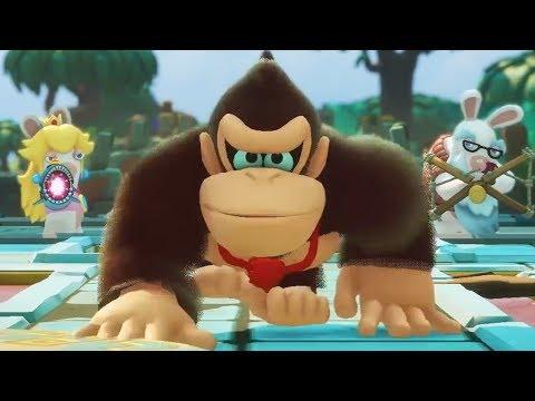 FIRST LOOK GAMEPLAY of Donkey Kong Adventure DLC Part 1! [Mario + Rabbids Kingdom Battle]