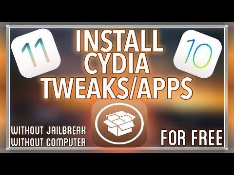 INSTALL CYDIA WITHOUT JAILBREAK OR COMPUTER ON iOS 11/10