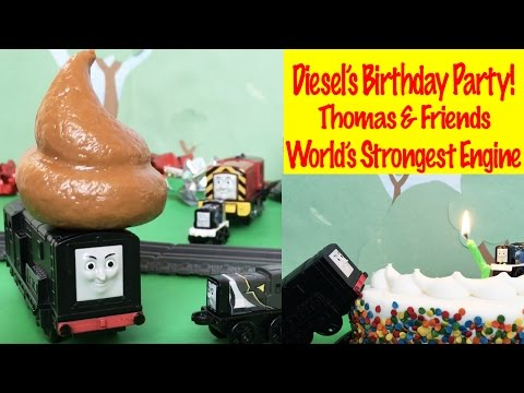 Diesel's Birthday Party Thomas and Friends World's Strongest Engine Competition with Silly Presents