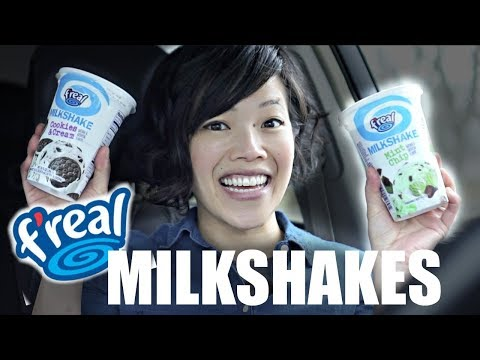 Emmy Tastes ALL 8 f'real Milkshakes | Sour Patch Kids, Reese's, mint chip, coffee, cake batter...