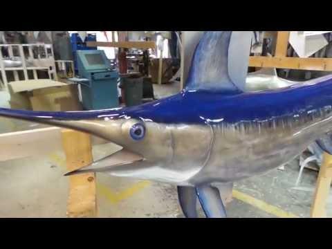 Sword fishmount, wall mount