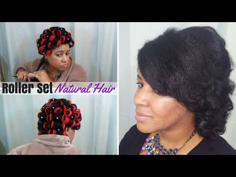 Smooth Rollerset on 4C Natural Hair