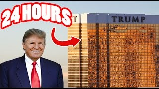 (SECURITY) 24 HOUR OVERNIGHT in TRUMP TOWERS | BEST SNEAKING INTO TRUMP TOWERS OVERNIGHT CHALLENGE!