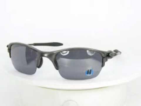 Oakley Sunglasses Half X 04141 Carbon Black Iridium.WMV