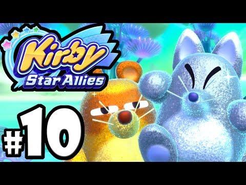 Kirby Star Allies - 2 Player Co-Op! - Switch Gameplay Walkthrough PART 10: Animal Friends & Foes