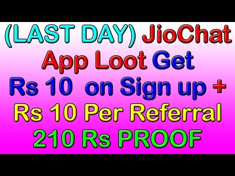 (LAST DAY) JioChat App Loot : Get Rs 10 Free Recharge on Sign up + Rs 10 Per Referral | 210 Rs PROOF