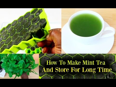 Mint Leaves Tea Recipe From Fresh Herbs & How to Store Fresh Mint Leaves Juice for long Time