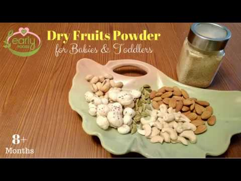 How to Make Non-Sticky Dry Fruits Powder For Babies & Toddlers | 8+ Months | Early Foods