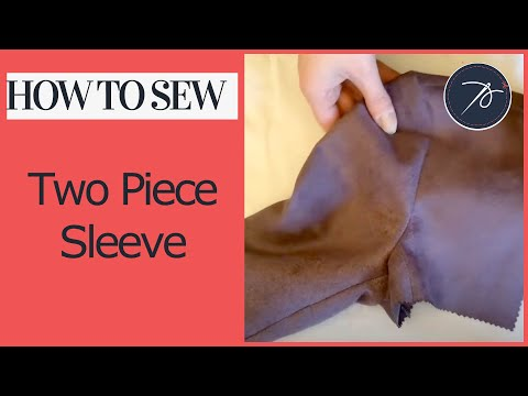How to attach and insert a two piece sleeve
