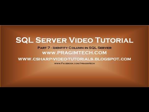 Identity Column in SQL Server - Part 7