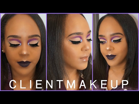 Salon Work | Client Makeup Tutorial - Reverse Purple Cut Crease
