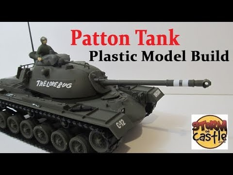 Patton Tank Plastic Model Build