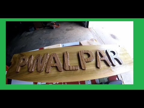 In the shop with Walter Name Sign Project