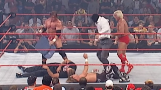 Shawn Michaels and Ric Flair vs. Triple H: Raw, May 26, 2003 - Today in the WWE