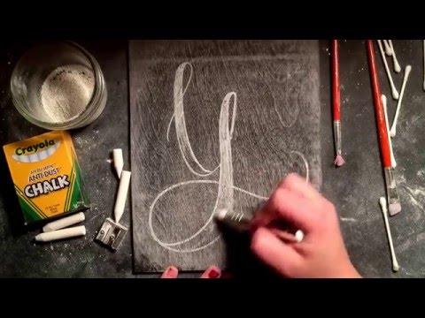 SheShe Design Chalk Script Lettering UPPERCASE Y
