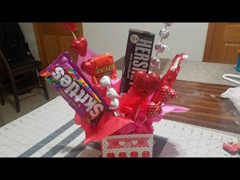 Diy Valentine's Candy Bouquet / gift basket