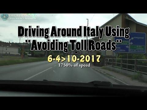 Driving Around Italy Using