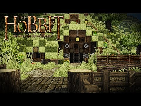 Building a HOBBIT House/Village In Minecraft! Modded Minecraft (Part 1)