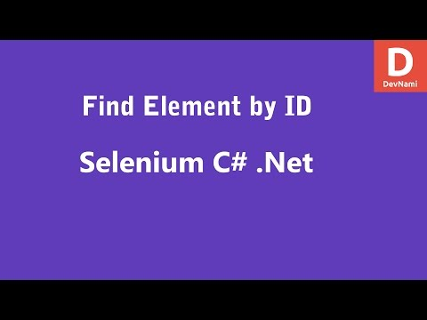 Selenium C# Find Element by ID