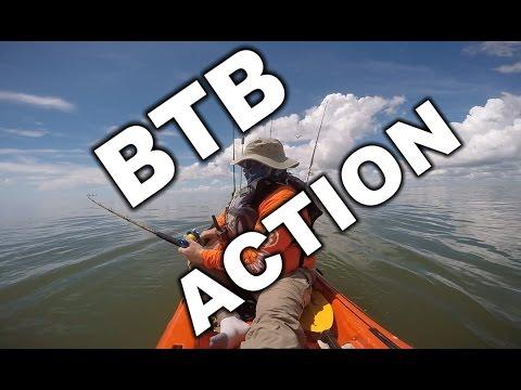 Shark on a Lure, Black Drum at the Rig catfish and spade fish - Matagorda BTB offshore Kayak fishing