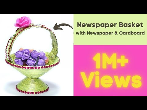 How to Make DIY Newspaper Basket | Best Out of Waste Paper Craft