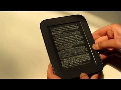New Nook Touch Complete Walkthrough Review - eBooks, PDF, Store, Newspaper, etc