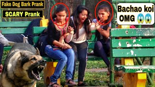 Fake Dog Bark Prank - Girl's Gone Mad   Epic Reactions  Pranks In India  @Prank Buzz   By TCI
