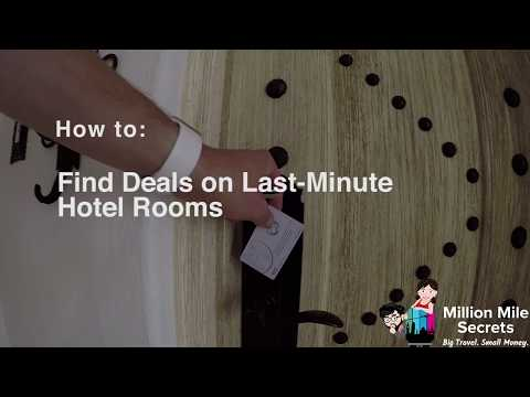 How to Find Deals on Last-Minute Hotel Rooms!