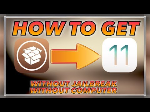 HOW TO GET CYDIA ON IOS 11/11.0.1 WITHOUT JAILBREAK OR COMPUTER!!!