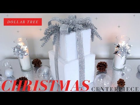DIY CHRISTMAS CENTERPIECE | DOLLAR TREE  DIY CHRISTMAS CENTERPIECE | ELEGANT BLING & FUR