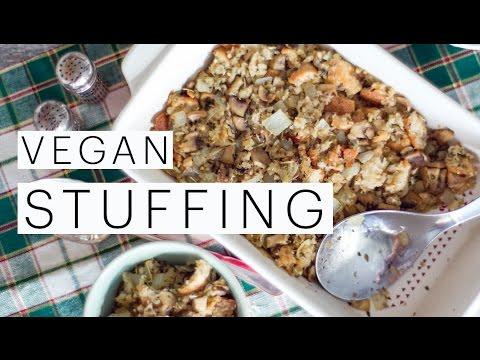DIY Vegan Stuffing Recipe | Vegetarian Dressing | VEGAN HOLIDAY Cooking | VEGAN CHRISTMAS Recipe