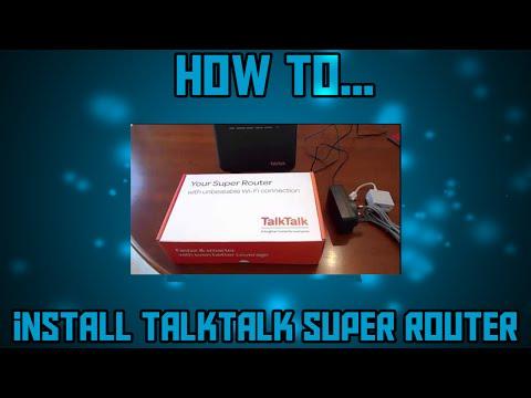TalkTalk Super Router - installation