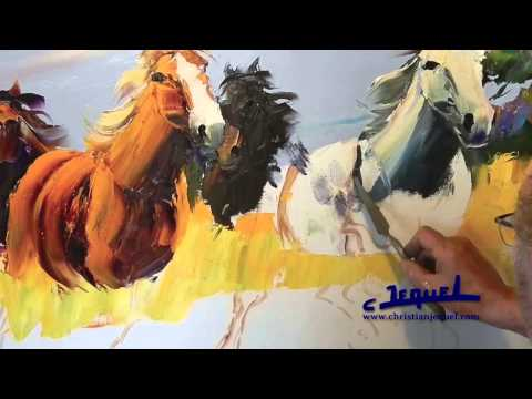 02-Demonstration of knife painting by Christian Jequel: