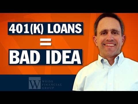 Borrow From 401k - Why You Shouldn't Take A Retirement Plan Loan