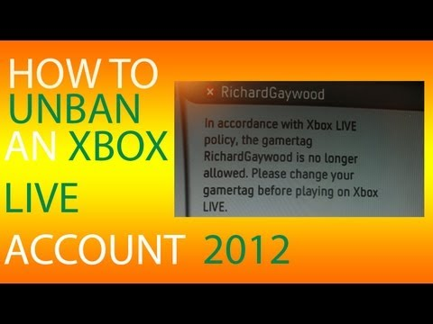 How to UN-BAN ANY Xbox LIVE Account - Tutorial [NO MOD] 12_31_9999 BAN October