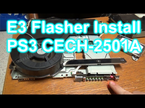 [PS3] How to Downgrade a PS3 to 3.55 with an E3 Flasher (PS3 Model CECH-2501)
