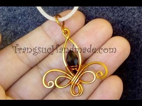 Fleur-de-lis pendant - How to make wire jewelry 111
