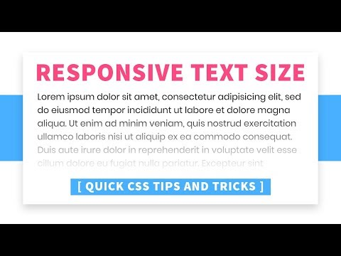 Responsive Font Size   CSS vw Unit