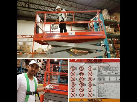 SKY JACK -  How to operate a Scissor Lift
