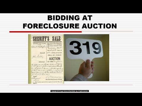Foreclosure Bidding Arizona Real Estate License Exam Prep